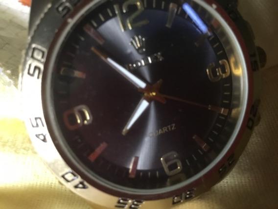Relógio Rolex, 44mm, Fundo Preto, Dourado, Usado,func.normal