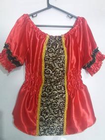 Bata Pomba Gira Vermelha C/ Preto - Umbanda