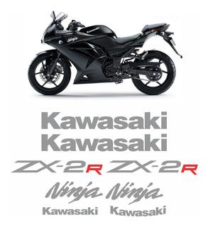 Faixa Emblema Adesivo Kawasaki Ninja 250r Zx 2r 25014 Zx2r