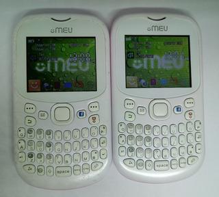 Lote C/ 02 Meu Sn23 Trial Chip Branco/ Rosa Semi Novo