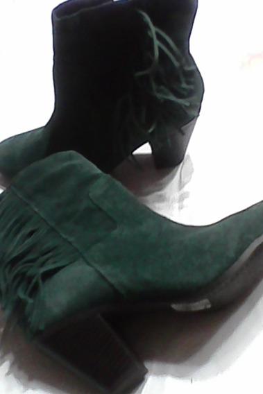 Vía Uno -botas Verdes Gamuza -modelo Chayanne -caña Media