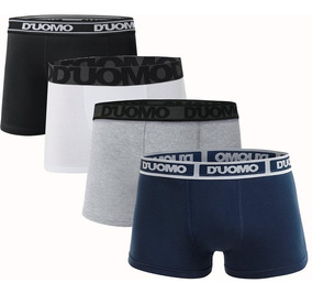 Kit Com 4 Cuecas Boxer Brief Cotton - Duomo