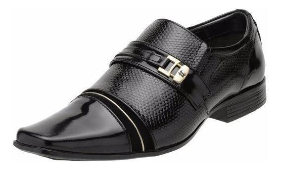 Sapato Social Masculino Calçado De Homem Couro Legítimo Envernizado Couro Brilhoso Verniz Estilo Italiano - 8135 A