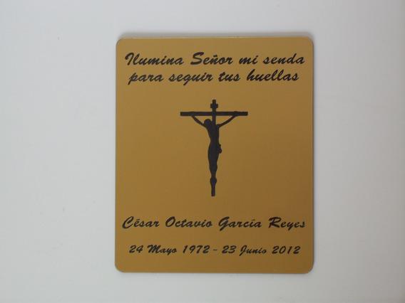 Placas Urna Cripta Lapida 12x9cm, Dorada O Plateada