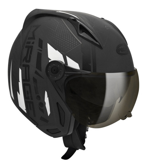 Capacete para moto multi-modular Peels Mirage Techride preto tamanho 60