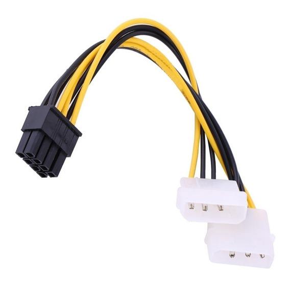 Cable Adaptador Dual Molex A 8 Pin Tarjeta De Video Pci-e