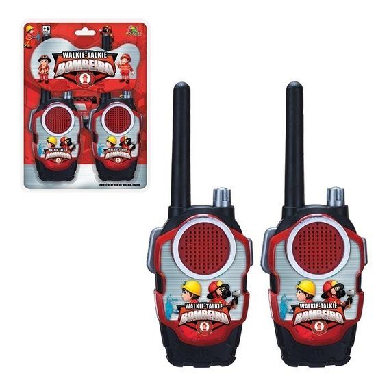Radinho Comunicador Walk Talk Infantil Bombeiro Promoção