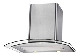 Extractor purificador cocina Domec KC60X ac. inox. y cristal de pared 60cm x 5.3cm x 50cm plateado 220V