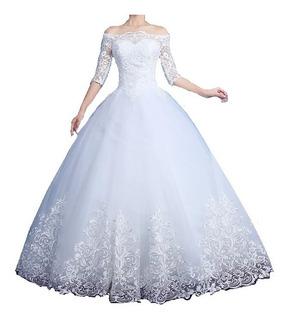 Vestido De Noiva Nb26 Barra Rendada Brinde Veu Barato Promo