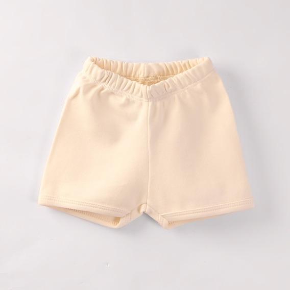 Shorts Infantil 100% Algodão Egípcio Bege