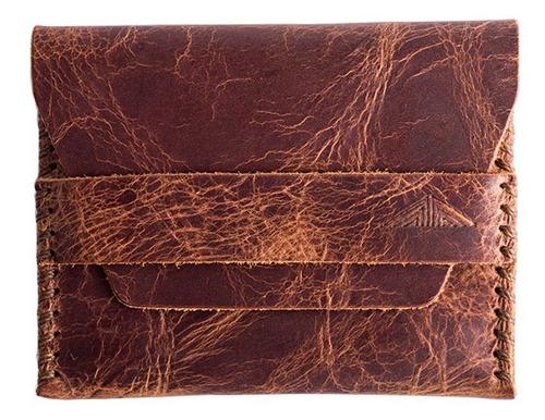 Imagem 1 de 4 de Carteira De Couro Masculina Envelope - Fóssil Mostarda
