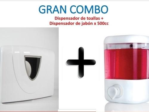 Gran Combo, Dispensador De Jabón  + Dispensador De Toalla
