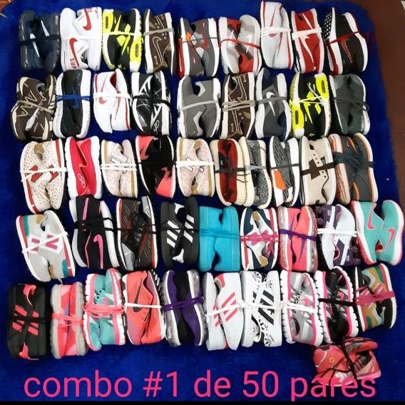 Lote 50 Pares De Zapatillas Surtidas Talles Del 34 Al 43