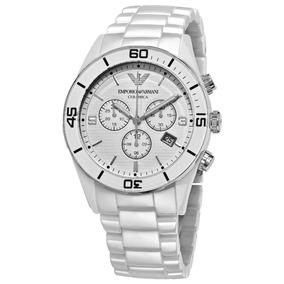 Relógio Emporio Armani Ar1424 Cerâmica Branca Frete Grátis