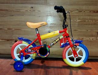 Bicicleta Para Chicos Y Chicas Domi Rodado 12 Con Rueditas