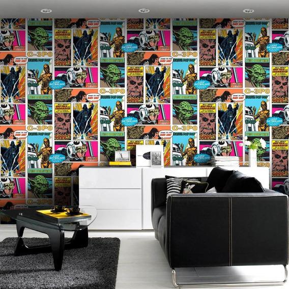 Wallpaper Fotomural Tapiz De Star Wars Retro Comics Decora