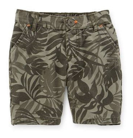 Bermudas Short Carters Verde Militar Camo Nena 2 Al 5