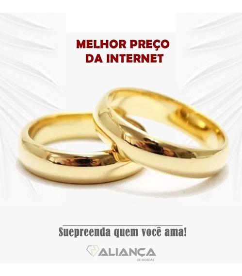 Par Alianças 6mm Casamento E Noivado Moedas Antigas