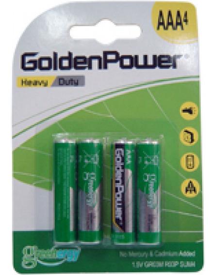 Pilha Golden Power Ultra Power Heavy Duty Aaa 1,5v Embalagem