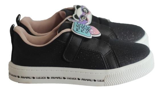 Tênis Pampili Da Luluca Original Preto Velcro Com N F