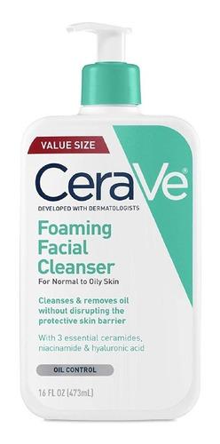 Cerave. Limpiador Facial Espumoso Piel Normal A Grasa. 473ml