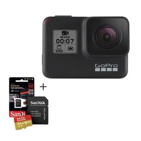 Câmera Gopro Hero 7 Black 12mp 4k +.cartão Micro Sd 64gb