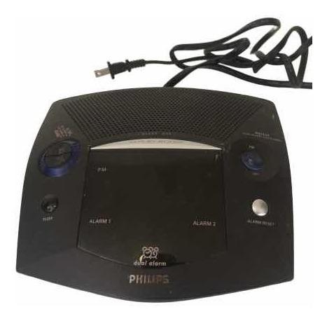 Reloj Despertador Alarma Dual Radio Am/fm Philips Usado