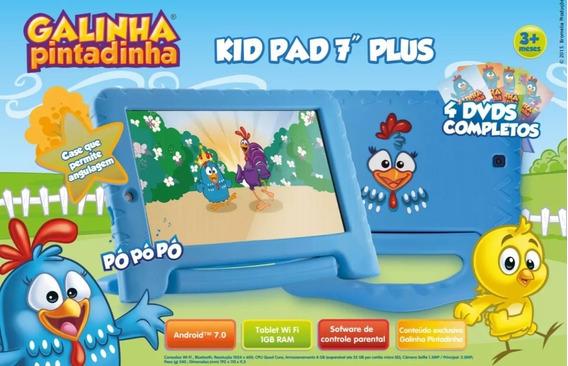 Tablet Kids Plus Galinha Pintadinha 7 Wi-fi 8gb Memória - M