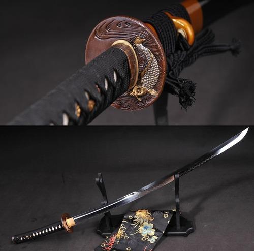 Imagem 1 de 9 de Katana Forjada Aço T10 Espada Samurai Com Fio Tradicional