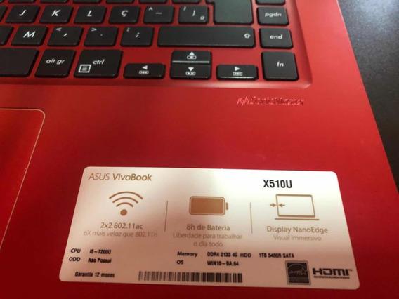 Notebook Asus X510u Não Liga, Está Sem Hd E Sem Memória