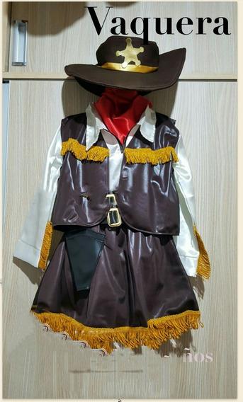 Disfraz De Vaquera Para Niñas Talla 8