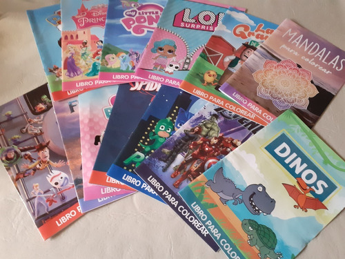 Pack De 10 Libros Para Colorear Varios Modelos Para Pintar