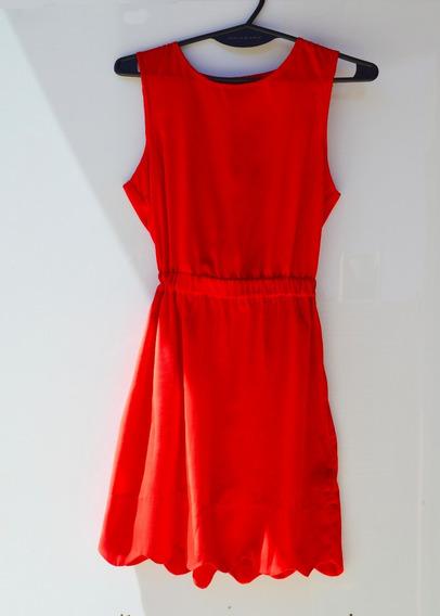 Vestido Rojo De Urban Outfitter Fiesta Corto Ajustado T Xs