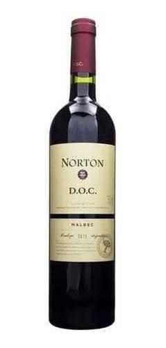 Imagem 1 de 3 de Vinho Argentino Norton Doc Malbec 750ml