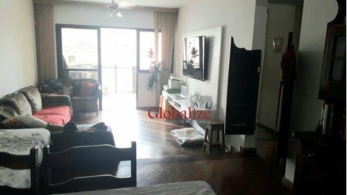 Apartamento Com 2 Dormitórios À Venda, 100 M² Por R$ 659.000,00 - Aparecida - Santos/sp - Ap0409