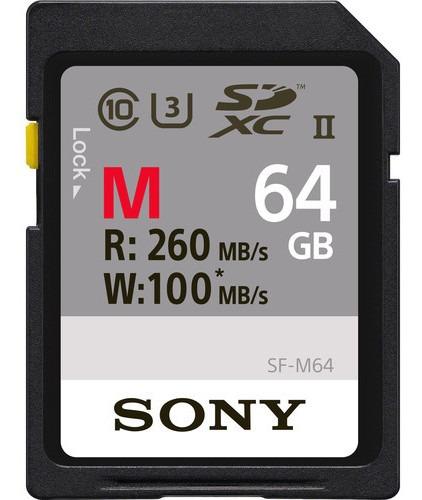 Cartão Sony Sdxc 64gb Serie M Uhs-ii U3 De 260mb/s