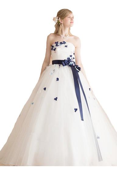 Vestido Hermoso De 15 A Medida C/ Miriñaque Y Flores 3d