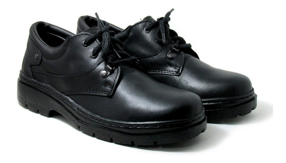 Zapatos De Vigilancia Cuero Vacuno Suela Febo Cosida