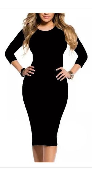 Vestido Midi Longuete Moda Evangélica Social Casual Barato