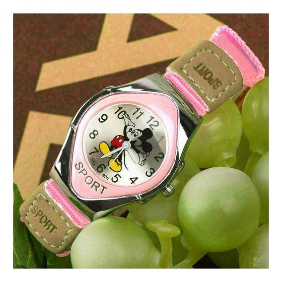 Relógio De Pulso Mickey Mouse Menina Criança Infantil 122