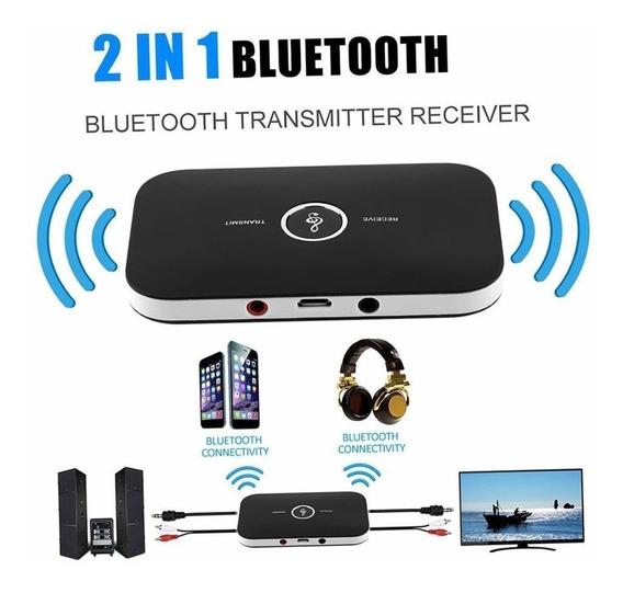 Transmisor Y Receptor Audio Bluetooth Inalámbrico 2en1
