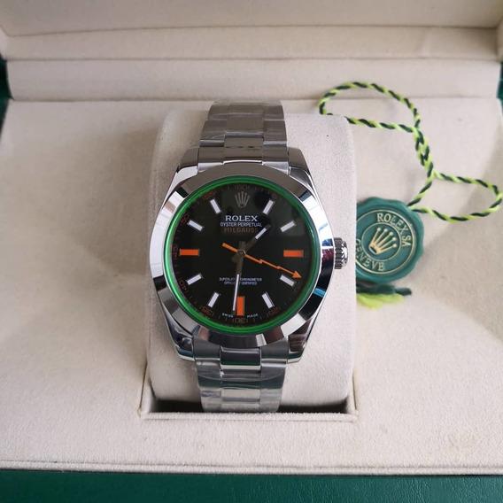 Relógio Masculino R Milgauss Aço - Com Caixa Verde