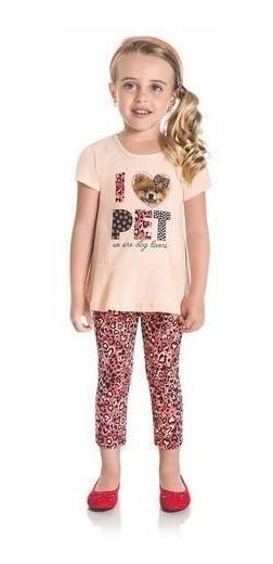 Conjunto Para Niña De Blusa Y Calza, A Estrenar En Rosa