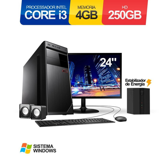 Pc Core I3 2.93ghz 4gb 250gb 2 Monitores Hp Led 23