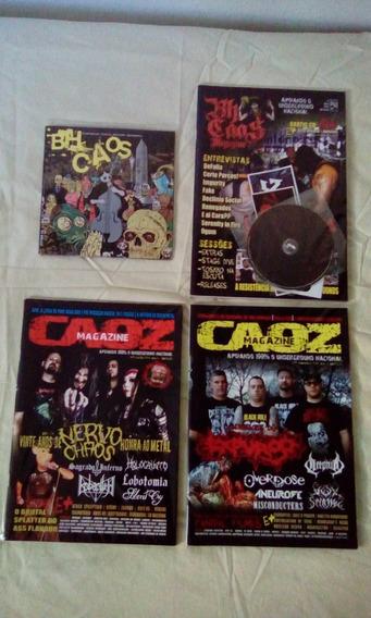 Bh Caos Magazine Revistas,coletânea Bh Caos(2cds) Raridades