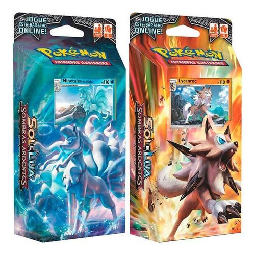 Pokémon Decks Sm3 Sombras Ardente Ninetales Alola E Lycanroc
