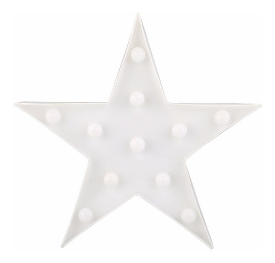Decoração Enfeite Luminária Led Festa Espaço Estrela Branca