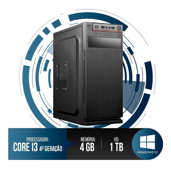 Pc Intel Core I3-4130,4gb Ram,hd 1tb,super Oferta+wi-fi