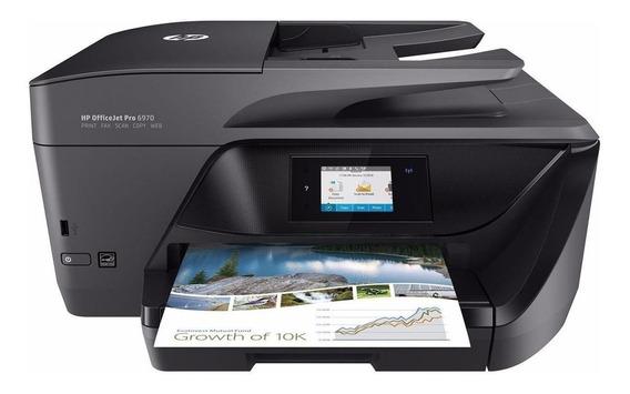 Impressora a cor multifuncional HP OfficeJet Pro 6970 com wifi 110V/220V preta