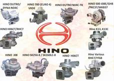 Reparación De Turbos Hino H06,j08,h07,w04d,guatemala
